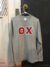 Theta Chi Fraternity Long Sleeve Shirt- Light Sports Gray