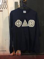 Phi Delta Theta Fraternity Long Sleeve Shirt- Navy