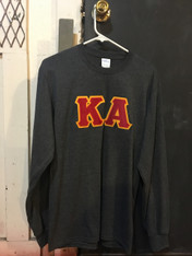 Kappa Alpha Fraternity Long Sleeve Shirt- Charcoal Heather