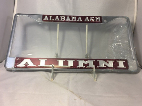 "Alabama A&M ""Alabama A&M Alumni"" Maroon/Silver License Plate Frame"