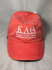 Kappa Alpha Theta Sorority Hat- Poppy