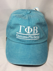 Gamma Phi Beta Sorority Hat- Caribbean Blue