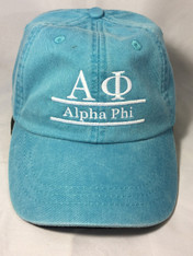 Alpha Phi Sorority Hat- Caribbean Blue