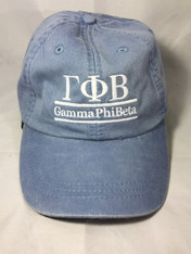 Gamma Phi Beta Sorority Hat- Periwinkle