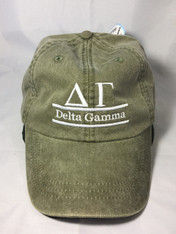 Delta Gamma Sorority Hat- Olive Green