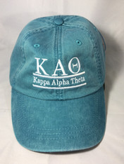 Kappa Alpha Theta Sorority Hat- Teal