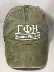 Gamma Phi Beta Sorority Hat- Olive Green