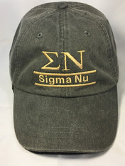 Sigma Nu Fraternity Hat- Charcoal