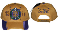 Omega Psi Phi Fraternity Two-Tone Hat-Old Gold