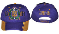 Omega Psi Phi Fraternity Two-Tone Hat-Purple