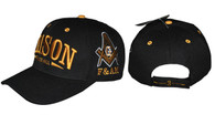 Mason Masonic Prince Hall Hat- Black/Gold
