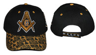 Mason Masonic Detailed Bill Hat- Black/Gold