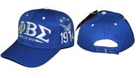 "Phi Beta Sigma Fraternity ""Blue Phi"" Hat- Blue"