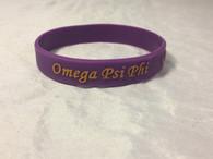 Omega Psi Phi Fraternity Silicone Bracelet-Purple