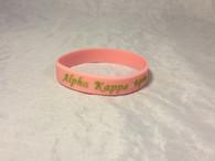 Alpha Kappa Alpha Silicone Bracelet-Pink
