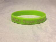 Alpha Kappa Alpha Silicone Bracelet-Green