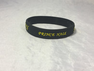 Prince Hall Mason Silicone Bracelet- Black