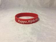 Kappa Alpha Psi Fraternity Silicone Bracelet-Crimson