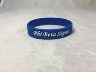 Phi Beta Sigma Fraternity Silicone Bracelet-Blue