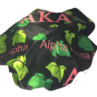 Alpha Kappa Alpha AKA Sorority Sleep Bonnet Cap-Black