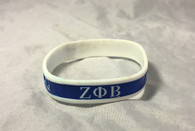 Zeta Phi Beta Sorority Two-Tone Silicone Bracelet