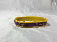 Omega Psi Phi Fraternity Two-Tone Silicone Bracelet