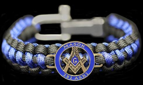 Mason Masonic Survival Paracord Bracelet-Symbol