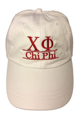 Chi Phi Fraternity Dad Hat- White