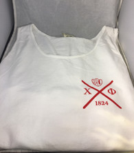 Chi Phi Fraternity Tank Top- White