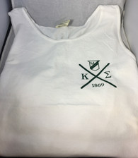 Kappa Sigma Fraternity Tank Top- White