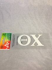 Theta Chi Fraternity White Car Letters