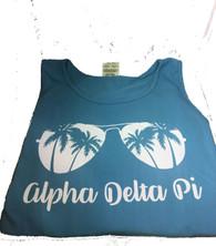 Alpha Delta Pi ADPI Sorority Sunglass Tank Top- Sapphire