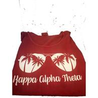 Kappa Alpha Theta Sorority Sunglass Tank Top- Crimson