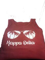 Kappa Delta Sorority Sunglass Tank Top- Crimson