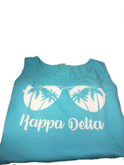Kappa Delta Sorority Sunglass Tank Top- Lagoon Blue