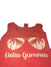 Delta Gamma Sorority Sunglass Tank Top- Watermelon