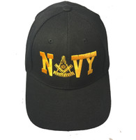 Mason Masonic Navy Hat with Past Master Symbol