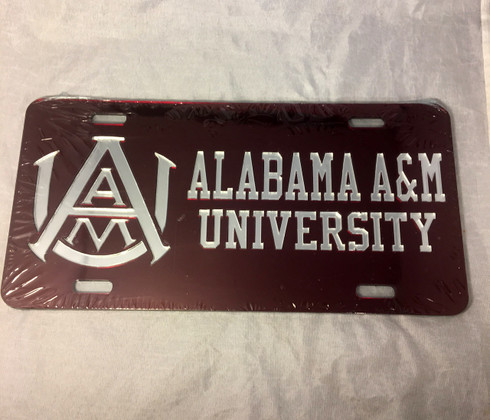 Alabama A&M University License Plate- Style 3