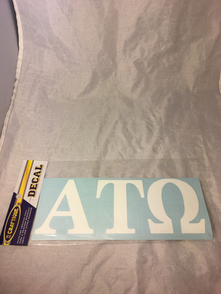 Alpha Tau Omega ATO Fraternity White Car Letters- 3 1/2 inches