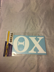 Theta Chi Fraternity White Car Letters- 3 1/2 inches