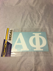 Alpha Phi Sorority White Car Letters- 3 1/2 inches