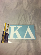 Kappa Delta Sorority White Car Letters- 3 1/2 inches