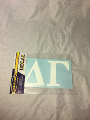 Delta Gamma Sorority White Car Letters- 3 1/2 inches