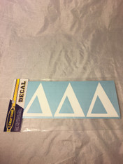 Delta Delta Delta Tri-Delta Sorority White Car Letters- 3 1/2 inches