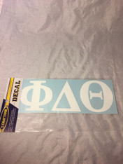 Phi Delta Theta Fraternity White Car Letters- 3 1/2 inches