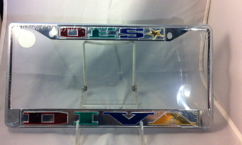 "Order of the Eastern Star ""Diva"" License Plate Frame"