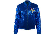 Order of the Eastern Star OES Sequin Jacket- Blue