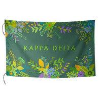Kappa Delta Sorority Floral Flag-Style 2