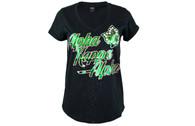 Alpha Kappa Alpha AKA Sorority Glitter Shirt-Black
