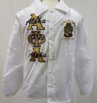 Alpha Phi Alpha Fraternity Line Jacket- White